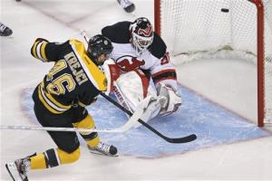 Krejci's hat trick lifts Bruins over Devils in OT
