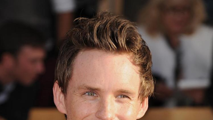Actor Eddie Redmayne arrives at the 19th Annual Screen Actors Guild Awards at the Shrine Auditorium in Los Angeles on Sunday, Jan. 27, 2013. (Photo by Jordan Strauss/Invision/AP)