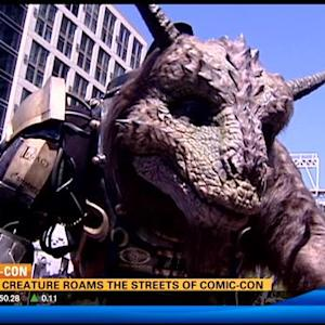 Giant creature roams the streets of Comic-Con