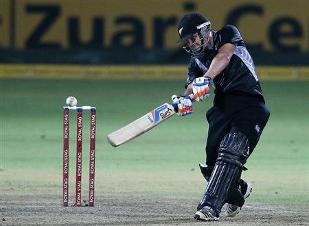 New Zealand's BJ Watling plays a shot during their third One Day International cricket match against Sri Lanka in Pallekele