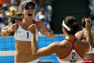U.S. Olympic volleyball sars Misty May Treanor and Kerri Walsh