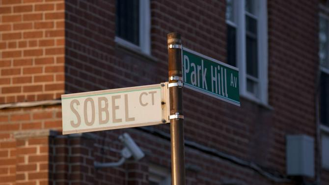 The intersection of Park Hill Avenue and Sobel Court can be seen in the Clifton neighborhood of Staten Island, New York
