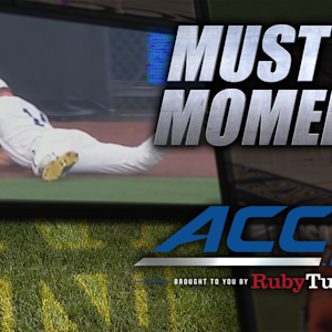 Notre Dame's Kyle Richardson Lays Out For Diving Grab | ACC Must See Moment
