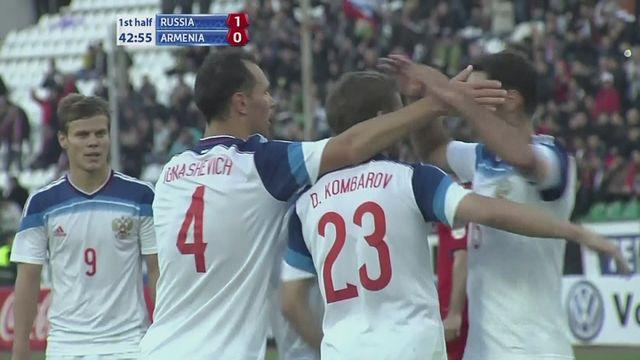 Russia secure 2-0 win over Armenia