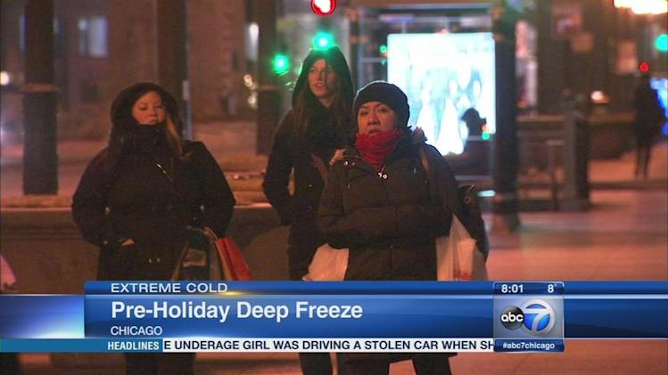 Chicago weather: Frigid temperatures, wind chills below zero settle in