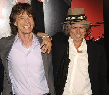 Mick Jagger and Keith Richards at the New York City premiere of Paramount Classics' Shine a Light – 03/30/2008 Photo: Kevin Mazur, WireImage.com