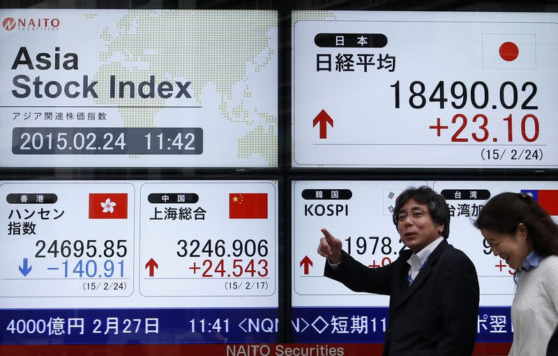 Asian shares drift lower