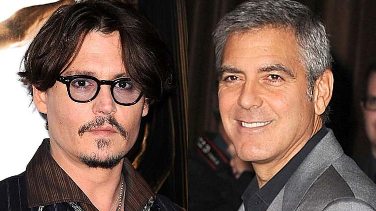 Johnny Depp, George Clooney
