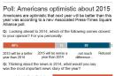 AP-Times Square poll: Americans optimistic for 2015, give mixed reviews to 2014.; 2c x 6 inches; 96.3 mm x 152 mm;