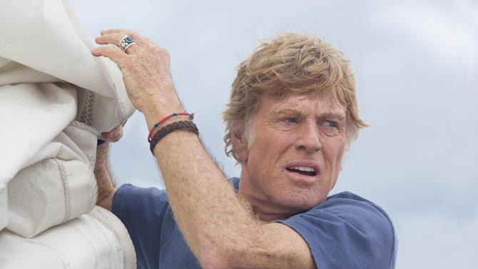 """This photo released by Roadside Attractions shows Robert Redford starring in J.C. Chandor's """"All Is Lost."""" (AP Photo/Roadside Attractions, Daniel Daza)"""
