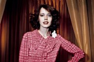 "Dutch actress and model Sylvia Kristel displaying a Chanel creation, in 1976. Kristel, who starred in the cult erotic ""Emmanuelle"" films, was laid to rest after a ""stylish and beautiful"" ceremony in her birthplace Utrecht, her agency said"