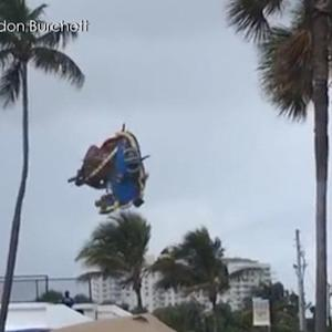 Watch: Bounce house goes airborne on Florida beach