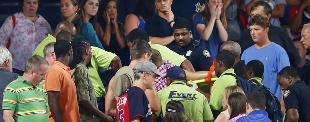 Man dies after fall from upper deck at Braves game