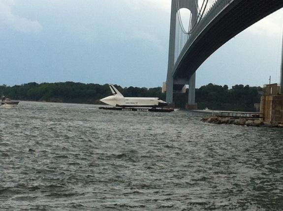 Space Shuttle at Sea: Enterprise Sails for NYC's Intrepid