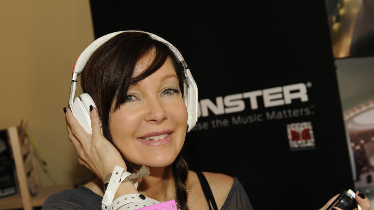 Actress Holly Fields wears Inspiration headphones by Monster Products at the Fender Music lodge during the Sundance Film Festival on Monday, Jan. 21, 2013, in Park City, Utah. (Photo by Jack Dempsey/Invision for Fender/AP Images)