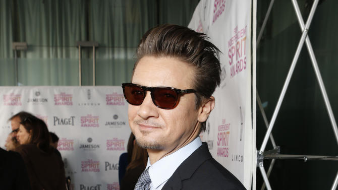Jeremy Renner attends the Film Independent Spirit Awards Luncheon at BOA Steakhouse on Saturday, Jan. 12, 2013, in West Hollywood, Calif. (Photo by Todd Williamson/Invision/AP)