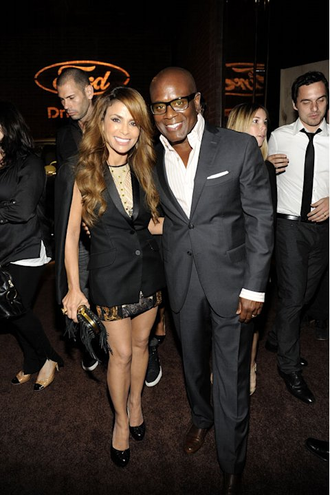 "Paula Abdul and L.A. Reid of ""The X Factor"" at the 2011 Fox Fall Eco-Casino Party at The BookBindery on September 12, 2011 in Culver City, California."