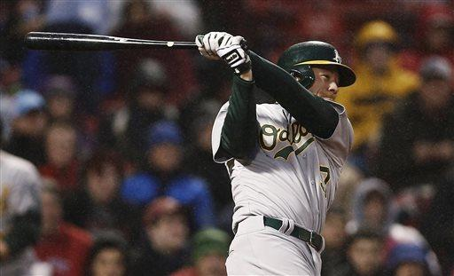 Colon, A's beat Sox 13-0 in rain-shortened game