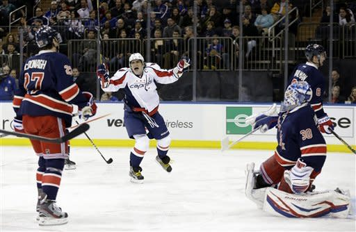 Stepan's power-play goal lifts Rangers over Caps