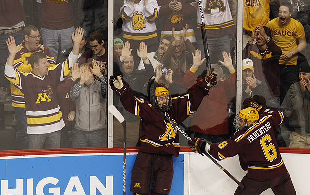 NCAA HOCKEY Tournament: Frozen Four set as BC blankets Duluth, Gophers top ...
