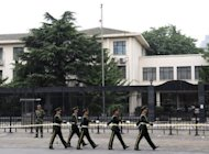 Chinese paramilitary police march outside the Japanese embassy in Beijing. Japan and North Korea. Japan and North Korea on Wednesday held their first face-to-face talks in four years, in an attempt to lay the groundwork to overcome decades of mutual distrust