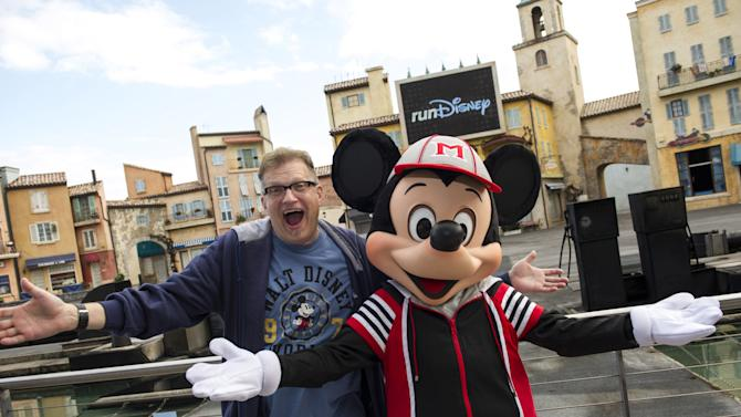 Drew Carey At Disney World Marathon