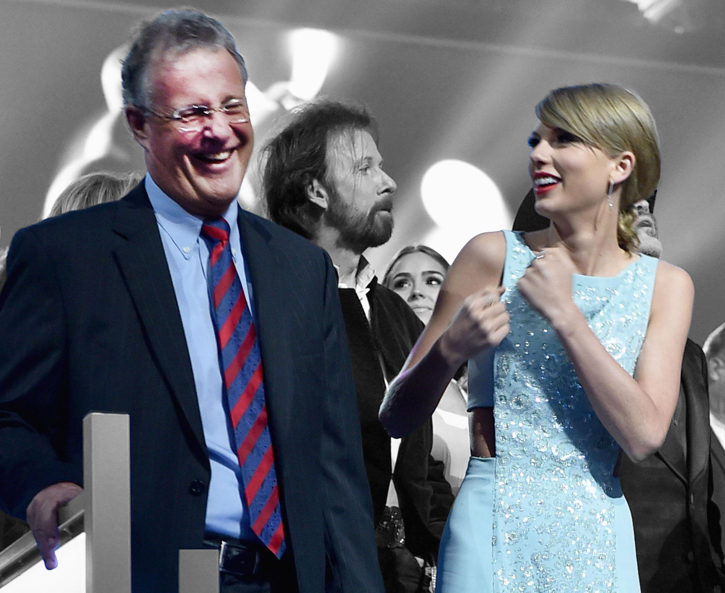 Taylor Swift Brings Mom & Dad to the Academy of Country Music Awards