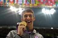 &lt;p&gt;US swimmer Michael Phelps holds his men&#39;s 100m butterfly gold medal on the podium at the London Olympics on August 3. He will be strongly fancied to collect the 18th gold of his career, and his 22nd career Olympic medal, in Saturday&#39;s 4x100m medley relay.&lt;/p&gt;