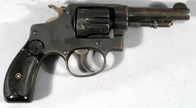 Valuable: The Smith & Wesson was found in Bonnie and Clyde's car in 1934 (Caters)
