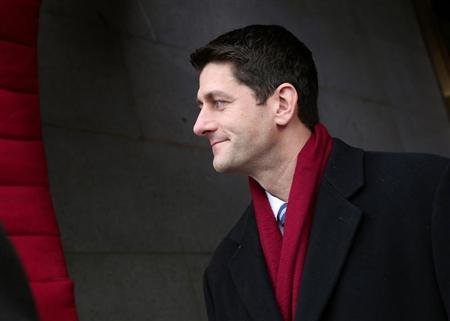 U.S. Rep. Paul Ryan (R-WI) arrives for the Barack Obama second presidential inauguration on the West Front of the U.S. Capitol January 21, 2013 in Washington. REUTERS/Win McNamee-POOL