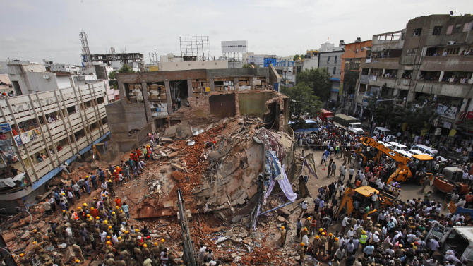 Hotel collapse in southern India kills at least 12