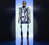 The Bionic Man is the world's first robot human made entirely of prosthetic parts.