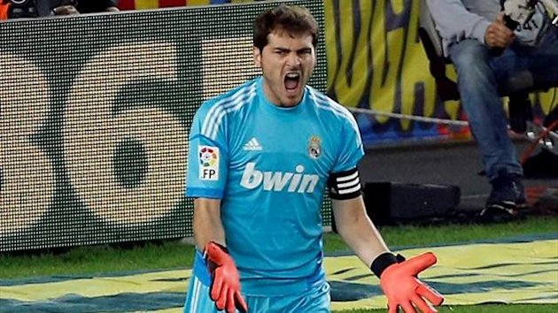 Iker Casillas durante el Barcleona-Real Madrid