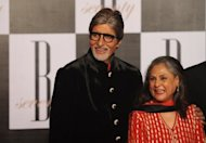 Bollywood star Amitabh Bachchan (L) and his wife Jaya at a party on the eve of his 70th birthday in Mumbai on October 10. Bachchan turned 70 on Thursday, marking his birthday with a lavish celebrity party and drawing hundreds of fans to cheer their hero outside his home