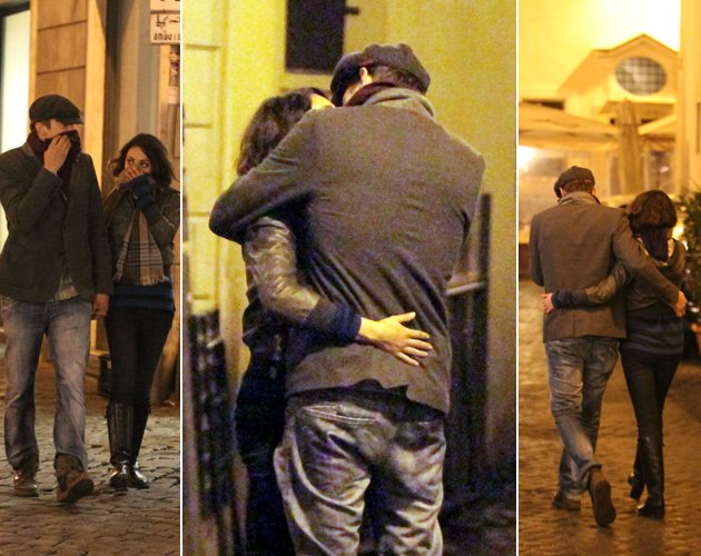 Ashton Kutcher und Mila Kunis: Ewige Liebe in der ewigen Stadt? (Bilder: Action Press/Splash News)