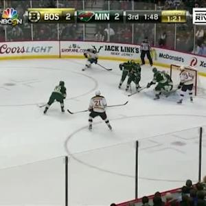 Niklas Backstrom Save on Patrice Bergeron (18:13/3rd)