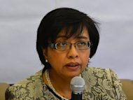 Miriam Coronel Ferrer, chair of the government negotiating panel for peace talks with the Moro Islamic Liberation Front (MILF), speaks during a news conference at the Philippines Embassy in Kuala Lumpur on January 26, 2013. The Philippines and a Muslim separatist group hope to finalise a peace agreement ending a decades-old insurgency by April, Coronel Ferrer said