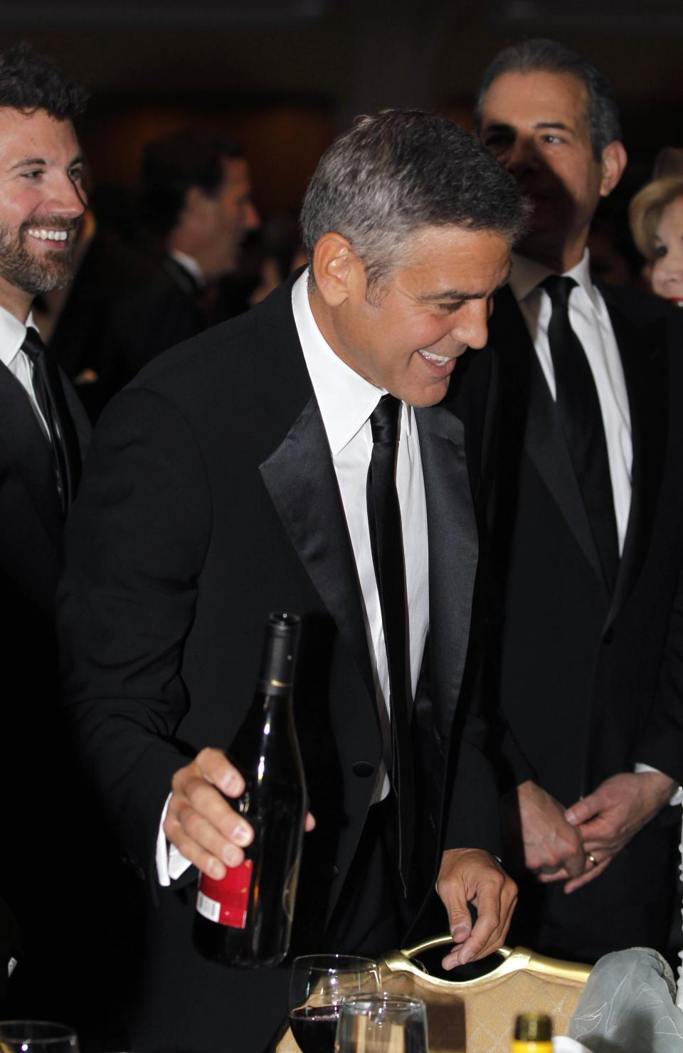 George Clooney attends the White House Correspondents' Association Dinner headlined by late-night comic Jimmy Kimmel, Saturday, April 28, 2012 in Washington. (AP Photo/Haraz N. Ghanbari)