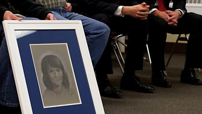 This Tuesday, Oct. 30, 2012, photo shows an artist's rendering of what Becky O'Connell would look like today if she hadn't been killed at age 9 in 1990. Donald Moeller, 60, was put to death at the South Dakota State Penitentiary for Becky's kidnapping, rape and murder, ending a 22-year saga. (AP Photo/Amber Hunt)