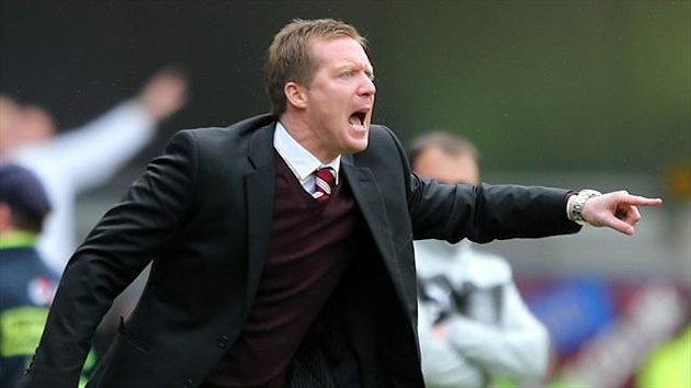 Gary Locke's Hearts were docked 15 points and banned from registering new players