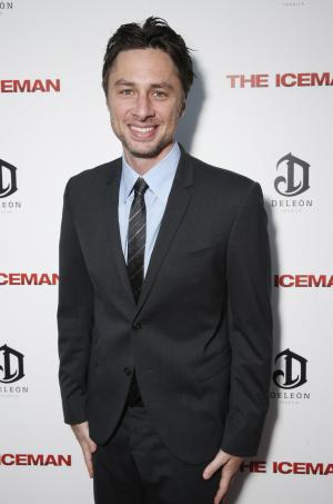 """This April 22, 2013 file photo provided by Millennium shows actor Zach Braff at the DeLeon Tequila special screening  of """"The Iceman"""" at the Arclight in Los Angeles. In the wake of the enormously successful """"Veronica Mars"""" Kickstarter campaign, Zach Braff is turning to crowd-funding to help realize a goal he's had since his 2004 film """"Garden State"""": make another movie. The """"Scrubs"""" star on Wednesday, April 22, 2013 launched a campaign to raise $2 million from fans on Kickstarter. (AP Photo/ Millennium, Todd Williamson)"""