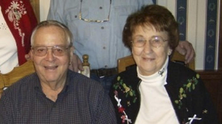 This undated photo provided Tuesday, April 3, 2012, by Luke Collins shows his parents, Helen and John Collins.  Luke told The Associated Press Tuesday that his 80-year-old mother had little flying experience and  knew her husband had died after he fell unconscious at the controls of their small plane, yet she remained calm as she landed the aircraft at a northeastern Wisconsin airport on Monday. (AP Photo/Luke Collins)
