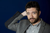 In this April 16, 2012 photo, actor Topher Grace poses for a portrait in New York. Grace stars in the off Broadway play &quot;Lonely, Im Not&quot; and in an independent film called &quot;The Giant Mechanical Man.&quot; (AP Photo/Charles Sykes)