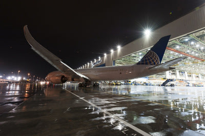 United's first 787-9 Dreamliner rolled out of final assembly at Boeing's Everett, Wash., facility on April 9, 2014.