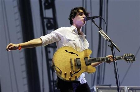 Koenig of Vampire Weekend performs during the Coachella Music Festival in Indio
