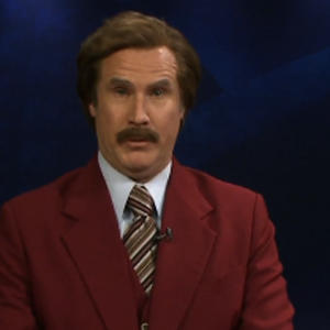 Raw: Ron Burgundy Anchors ND Newscast