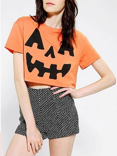 Pumpkin Crop Top
