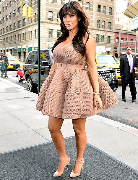 Kim Kardashian Wears Three Different Maternity Outfits in One Day: Pictures