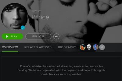 Prince begins removing his music from streaming services