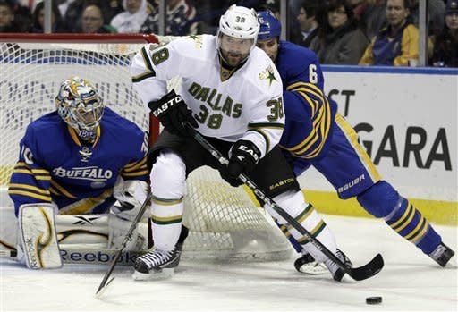 Gerbe caps Sabres' 3-2 shootout win over Stars